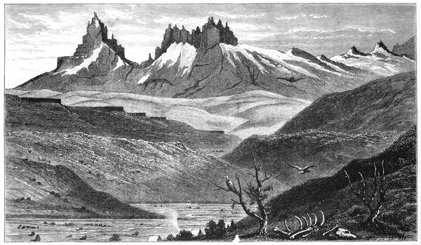 'Wild horse glen' – illustration from Florence Dixie's 'Across Patagonia'